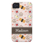 Peace Love Sushi iPhone 4 4s Case-Mate Cover iPhone 4 Covers
