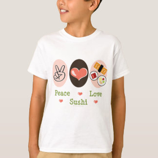 Peace Love Sushi Kids T-shirt