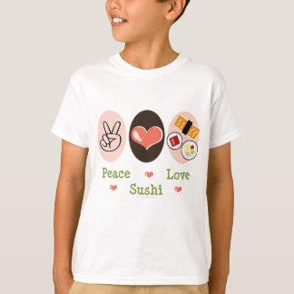 Peace Love Sushi Kids T-shirt