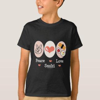 Peace Love Sushi Kids Tee Shirt