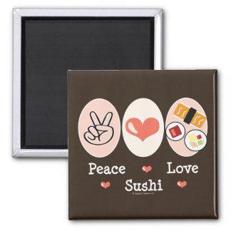 Peace Love Sushi Magnet