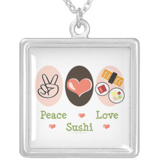 Peace Love Sushi Necklace