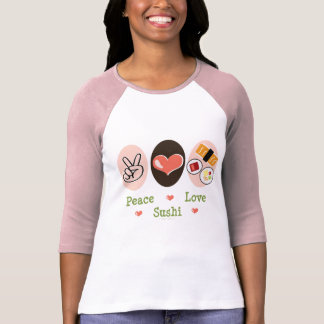 Peace Love Sushi Raglan Tee