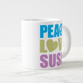 Peace Love Sushi Jumbo Mugs