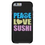 Peace Love Sushi Tough iPhone 6 Case
