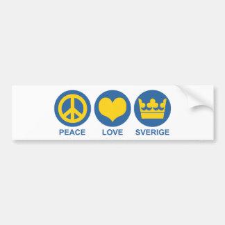 Peace Love Sverige Bumper Sticker