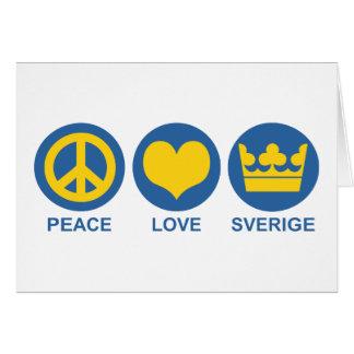 Peace Love Sverige Card