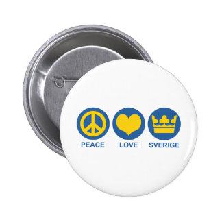 Peace Love Sverige Pins