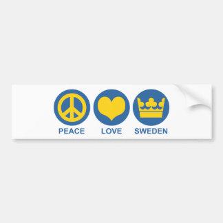 Peace Love Sweden Bumper Sticker