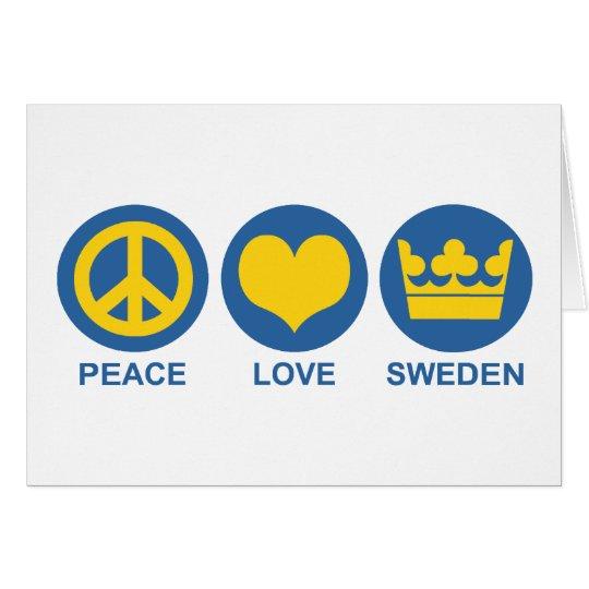 Peace Love Sweden Card