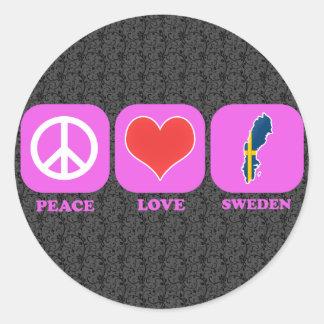 Peace Love Sweden Stickers