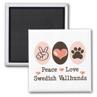 Peace Love Swedish Vallhunds Magnet