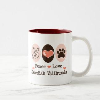 Peace Love Swedish Vallhunds Mug