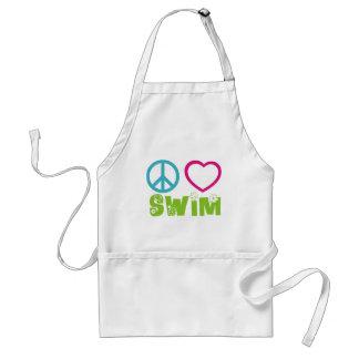 Peace Love Swim Adult Apron