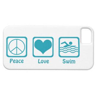 Peace, Love, Swim-Blue iPhone SE/5/5s Case