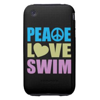 Peace Love Swim iPhone 3 Tough Cover