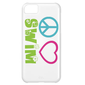 Peace Love Swim Case For iPhone 5C