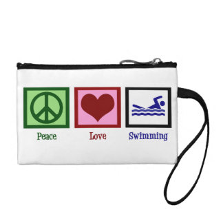 Peace Love Swim Coin Wallet