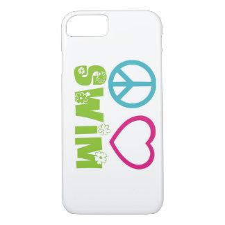 Peace Love Swim iPhone 7 Case