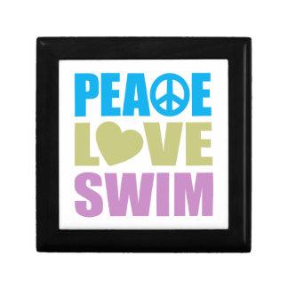 Peace Love Swim Keepsake Box
