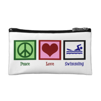 Peace Love Swim Makeup Bag