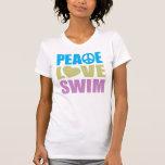 Peace Love Swim T-shirt