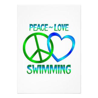 Peace Love SWIMMING Card