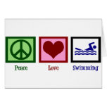 Peace Love Swimming Cards