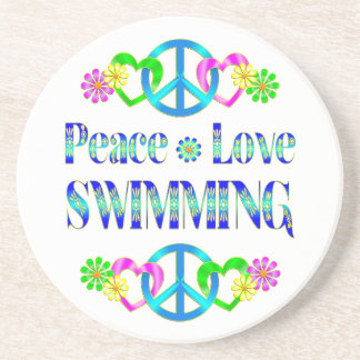 Peace Love Swimming Drink Coaster