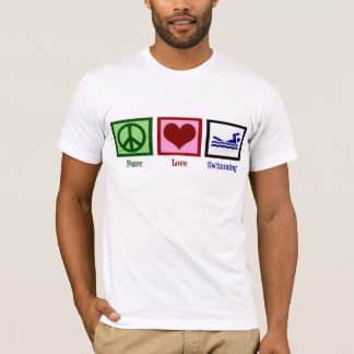 Peace Love Swimming T-Shirt