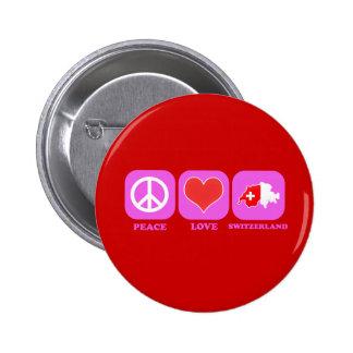 Peace Love Switzerland 2 Inch Round Button