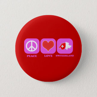 Peace Love Switzerland Button