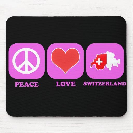 Peace Love Switzerland Mouse Pad