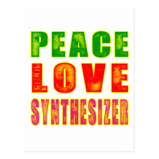 Peace Love Synthesizer Postcard