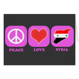 Peace Love Syria Card