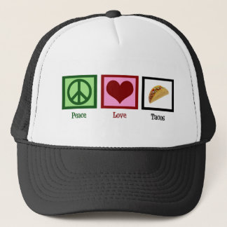 Peace Love Tacos Trucker Hat