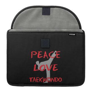 Peace Love Taekwondo Sleeve For MacBooks