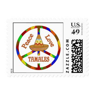 Peace Love Tamales Stamp