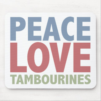 Peace Love Tambourines Mouse Pad