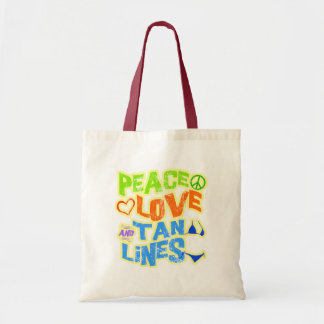 Peace Love Tan Lines Tote Bag