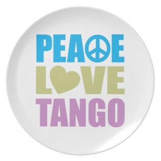 Peace Love Tango Plates