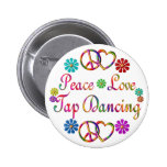 PEACE LOVE TAP DANCING BUTTONS