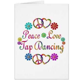 PEACE LOVE TAP DANCING CARDS