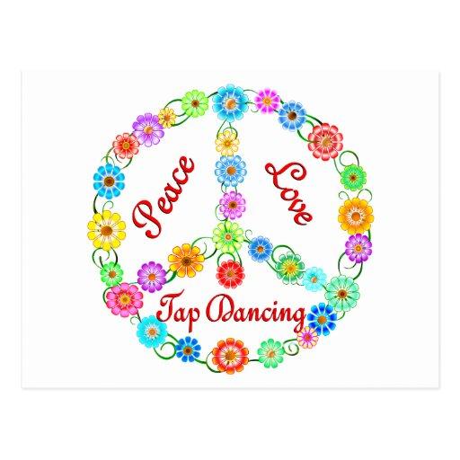 Peace Love Tap Dancing Post Cards