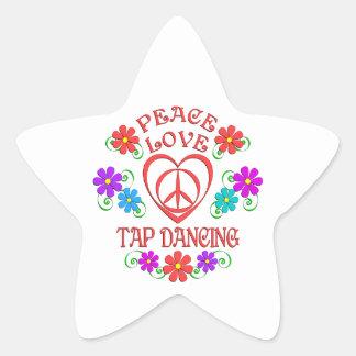Peace Love Tap Dancing Star Sticker
