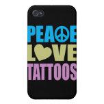 Peace Love Tattoos iPhone 4/4S Case
