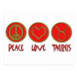 Peace Love Taurus Postcard