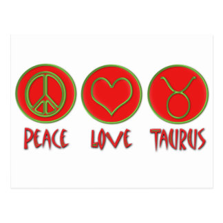 Peace Love Taurus Postcard
