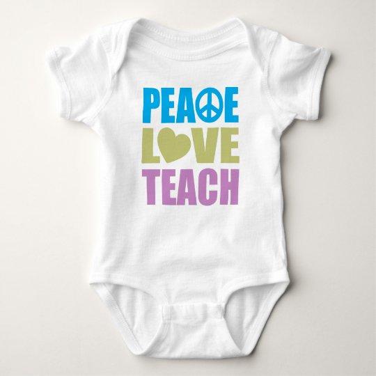 Peace Love Teach Baby Bodysuit