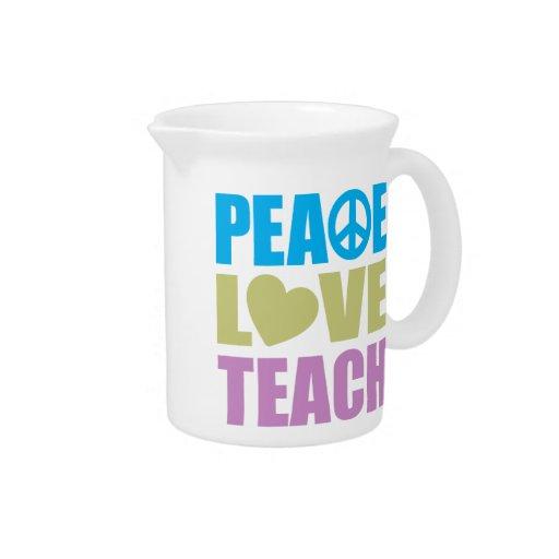 Peace Love Teach Beverage Pitchers